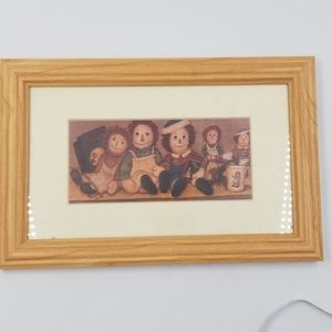 Raggedy Ann & Andy Print Framed Picture